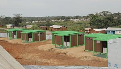 Gado Badzere. Ferrero classrooms for the school of the UNHCR refugee camp
