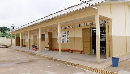 The new school block at the Cite' Verte kindergarten