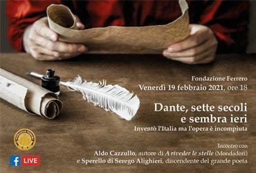 Dante, sette secoli e sembra ieri