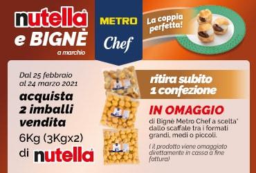 Nutella ti regala i bignè a marchio Metrochef