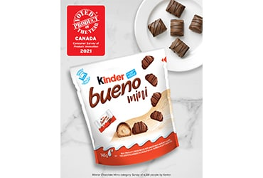 KINDER BUENO MINI VOTED PRODUCT OF THE YEAR 2021