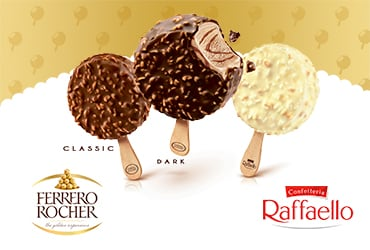 Ferrero unveils first-ever Ferrero Rocher and Raffaello ice creams