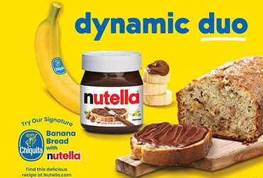 A Match Made in Heaven! Nutella® Teams Up With Chiquita For An A-Peeling Collaboration
