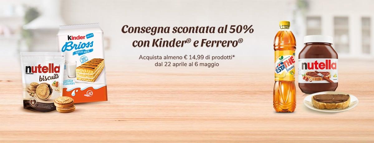 Consegna scontata al 50% con Ferrero