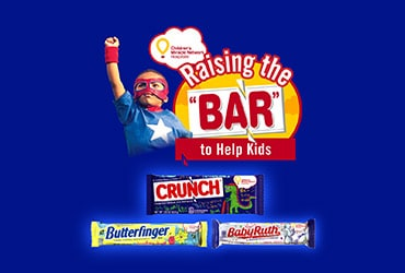 CRUNCH, BUTTERFINGER & BABY RUTH RELEASE LIMITED-EDITION CHOCOLATE BARS TO SUPPORT CHILDREN'S MIRACLE NETWORK HOSPITAL