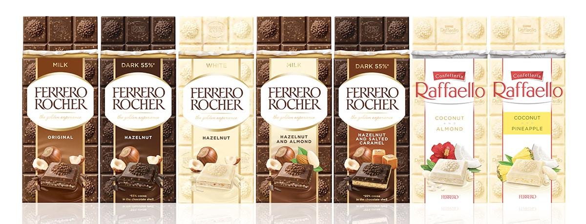 FERRERO ROCHER AND RAFFAELLO NOW AVAILABLE IN A PREMIUM CHOCOLATE BAR FORMAT