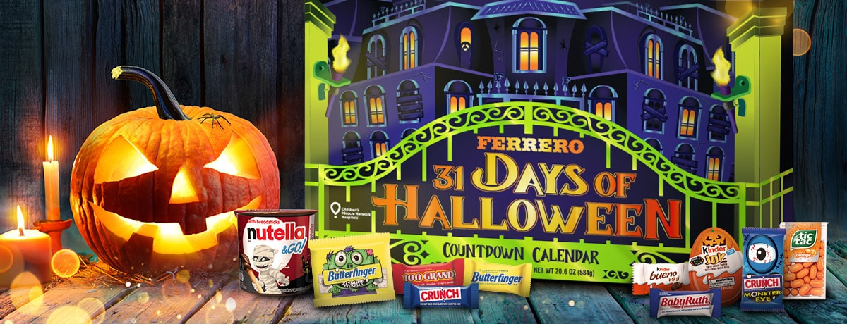 Get into the Halloween Spirit and Support Children's Miracle Network Hospitals with the Ferrero 31 Days of Halloween