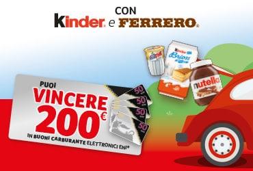 Con Kinder e Ferrero vinci i buoni carburante