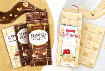 Genuss in neuer Form: Ferrero Rocher und Raffaello jetzt auch als Tafeln
