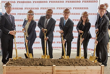 Ferrero breaks ground on new chocolate processing facility in Bloomington, Illinois, its first ever in North America